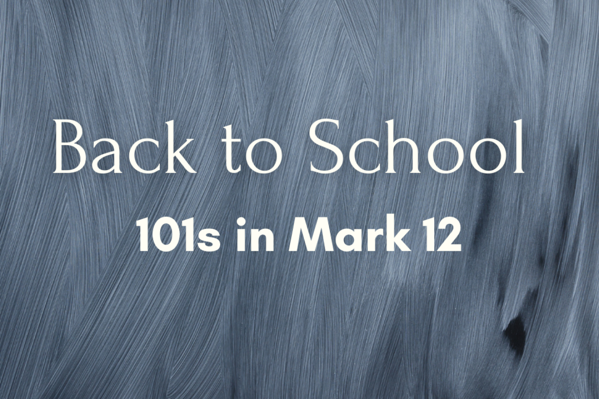 Back to School: Discipleship 101 (10/25/20)